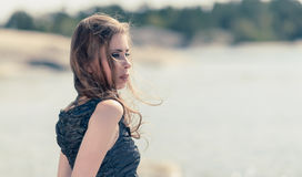 Longing woman Stock Images