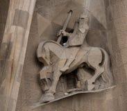 Longinus que perfora el lado del ` s de Cristo imagenes de archivo