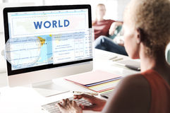 Longitude Latitude World Cartography Concept Royalty Free Stock Photography