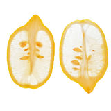Longitudinal Sliced Lemons Stock Photography