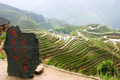 Longji Rice Terraces Royalty Free Stock Photography
