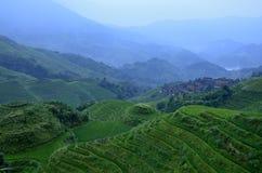 Longji terrace scenery Stock Photo