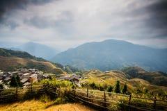 Longji terraced landscape in Autumn Stock Image