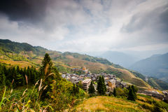 Longji terraced landscape in Autumn Royalty Free Stock Photos