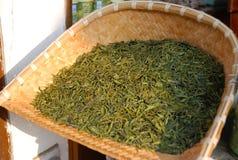 longjing Hangzhou porcelanowa herbata Zdjęcia Stock