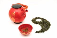 Longjing Tea in Taiji Figure stock photo