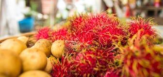 Longkong et ramboutan Images stock