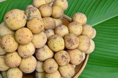Longkong, frutas tailandesas Fotos de Stock Royalty Free