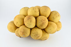 Longkong, frutas tailandesas isoladas Fotografia de Stock Royalty Free