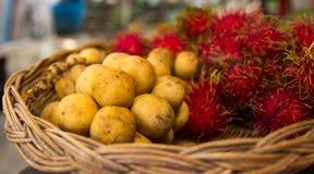 Longkong und Rambutan Lizenzfreies Stockbild