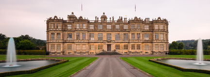 Longleat House and fountains Royalty Free Stock Images