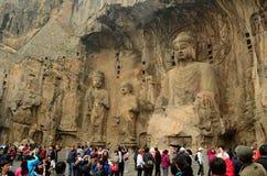 Longmen bouddhiste foudroie le nr Xian, Chine Images stock