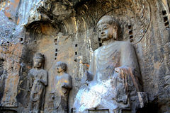 Longmen Caves, Dragon Gate Grottoes, in  Luoyang city Royalty Free Stock Images
