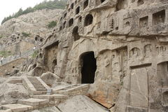Longmen Caves in Luoyang Royalty Free Stock Photo