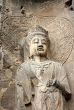 Longmen Caves in Luoyang. Statue of Bodhisattva Royalty Free Stock Photography