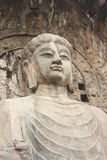 Longmen Caves in Luoyang. Statue of Buddha. Royalty Free Stock Images