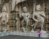Longmen-Grotten Longmen-H?hlen in Luoyang China lizenzfreie stockfotografie