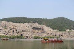 Longmen-Grotten in Luoyang, Henan Provinz, China-Park stockfoto
