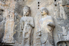 Longmen Grotto Buddha Statues China Stock Image
