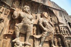 Longmen grottoes buddha statue Royalty Free Stock Photography