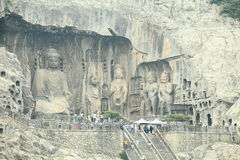 Longmen Grottoes Stock Photo