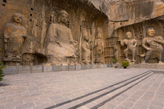 Longmen Grottoes Chiseled Statues Royalty Free Stock Image