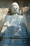 The Longmen Grottoes figure of Buddha Stock Image