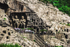 Longmen Grottoes, Luoyang, Κίνα στοκ εικόνα με δικαίωμα ελεύθερης χρήσης