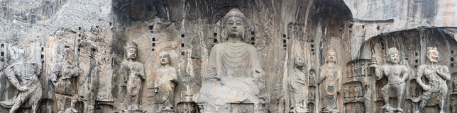 The Longmen Grottoes Stock Photography