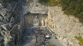 Longmen  Grottoes luoyang china. The longmen grottoes in luoyang china, very big and famurs Royalty Free Stock Images