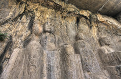 Longmen grottoes luoyang henan province Stock Images