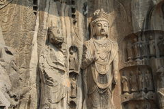 Longmen Grottoes in Luoyang, Henan province, China Park Royalty Free Stock Image