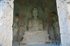 Longmen grottor Royaltyfria Bilder