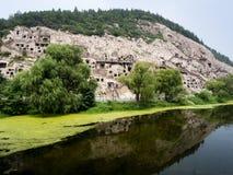 Longmen grottor Arkivfoto