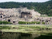 Longmen grottor Fotografering för Bildbyråer