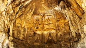 Longmen grottor, buddism, Luoyang, Henan Provinceï ¼ŒAsiaï ¼ ŒChina Royaltyfria Bilder