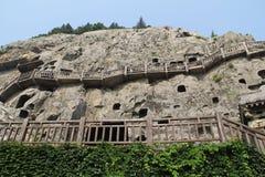 Longmen grottor i det Luoyang, Henan landskapet, Kina parkerar Royaltyfri Fotografi