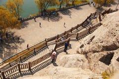 Longmen grottor, Luoyang, Kina Arkivbild