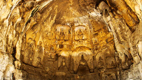Longmen groty, buddyzm, Luoyang, Henan Provinceï ¼ ŒAsiaï ¼ ŒChina Obrazy Royalty Free
