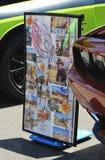 Longmire plakat Strzelający od rocznika car show Zdjęcie Stock