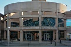 Longmont,科罗拉多安全和正义中心执法Bui 免版税库存图片
