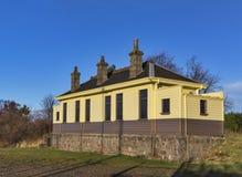 Longmorn järnvägsstation. royaltyfri bild