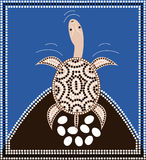 Longneck turtle. A illustration based on aboriginal style of dot painting depicting longneck turtle Stock Image