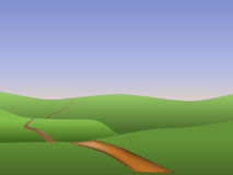 Longo caminho Foto de Stock Royalty Free