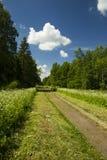 Longo caminho para encontrar nuvens Fotografia de Stock Royalty Free