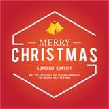 Longo-sombra ajustada ícones do Natal Foto de Stock Royalty Free