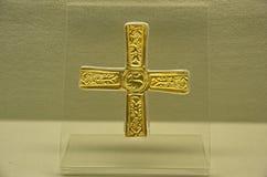 Longobard gouden kruis Stock Fotografie