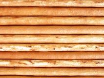 Longs bâtons minces de biscuit Photographie stock