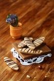Longs biscuits de noisette Images stock