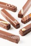 Longs bonbons de chocolats Photographie stock
